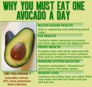 Effects of eating half an avocado with lunch on satiety