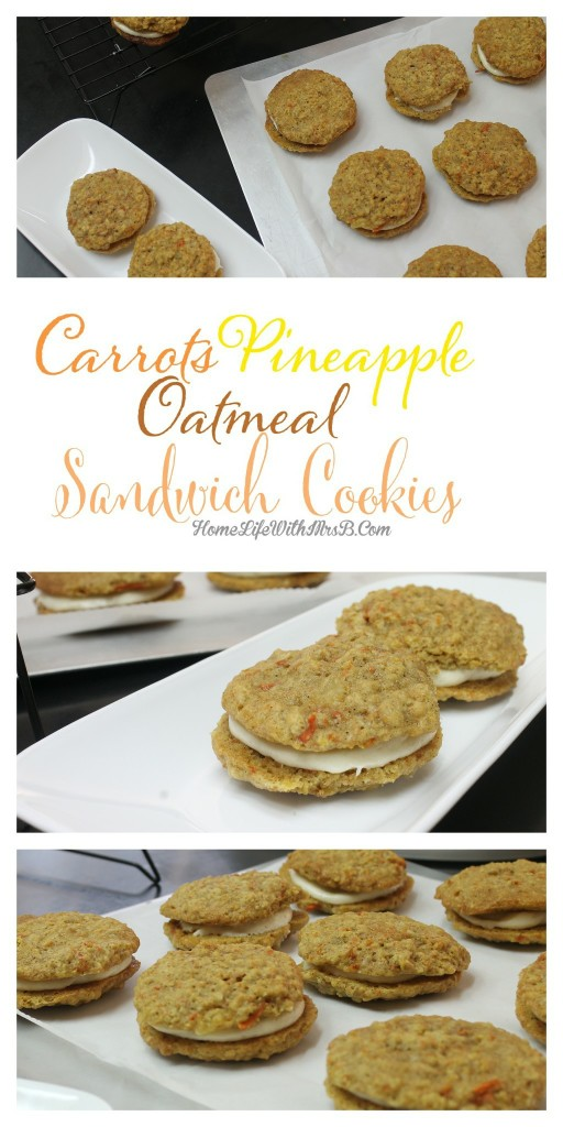 carrot cookie sandwiches