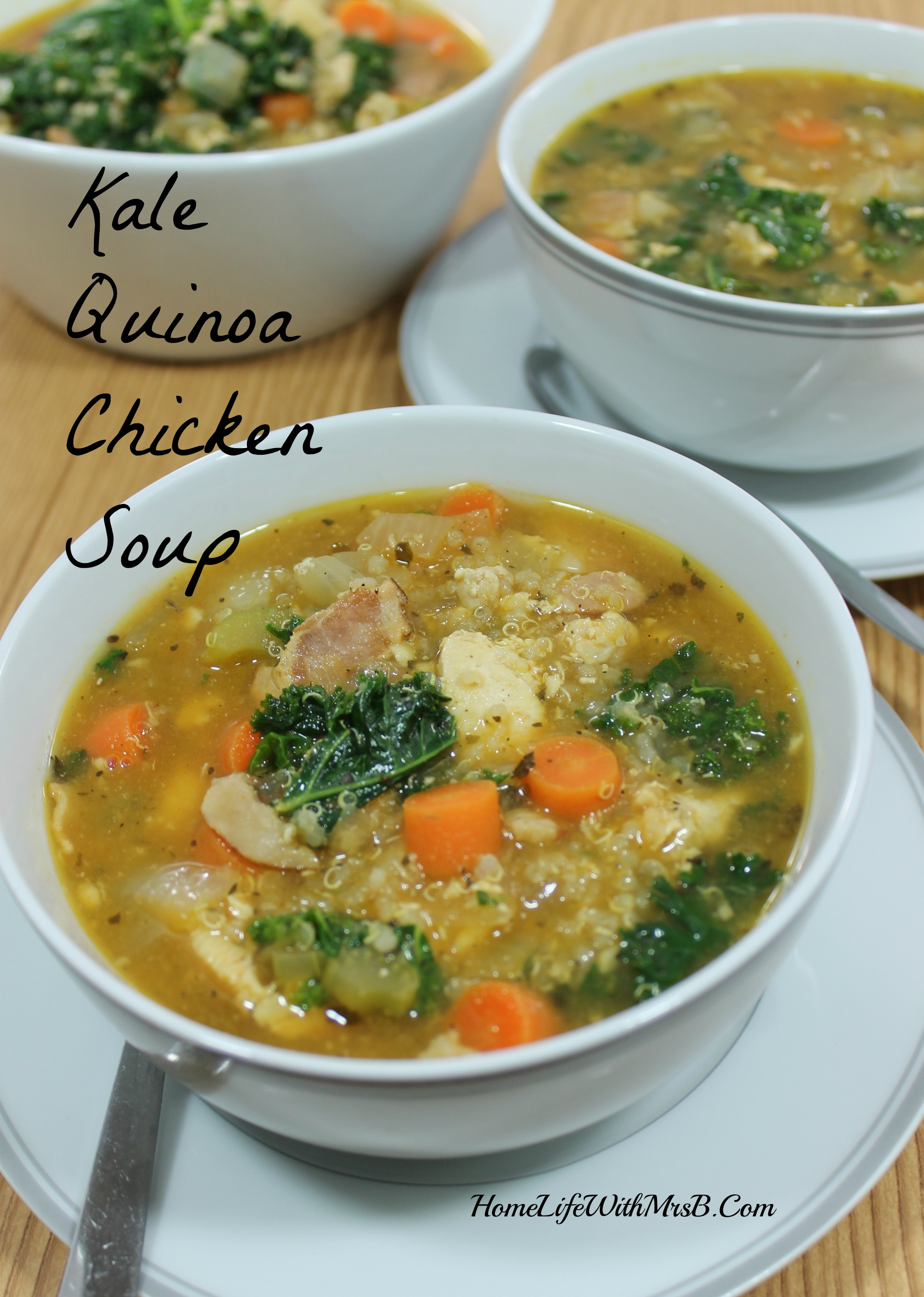 Kale Quinoa Chicken Soup
